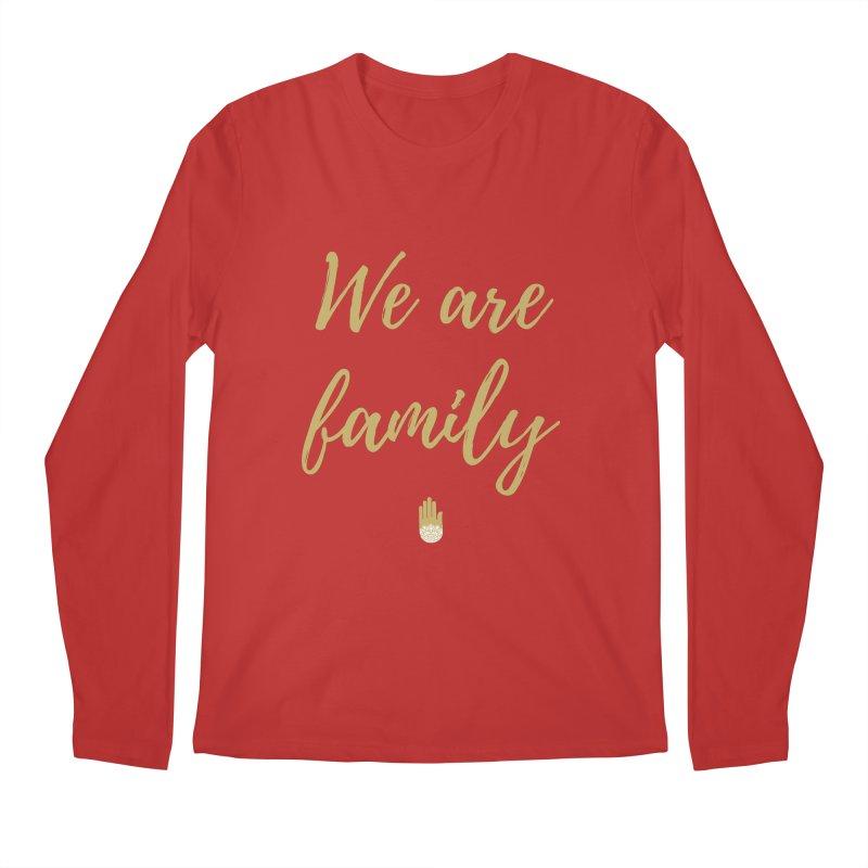 We Are Family | Gold Design Men's Regular Longsleeve T-Shirt by ahimsafamily's shop