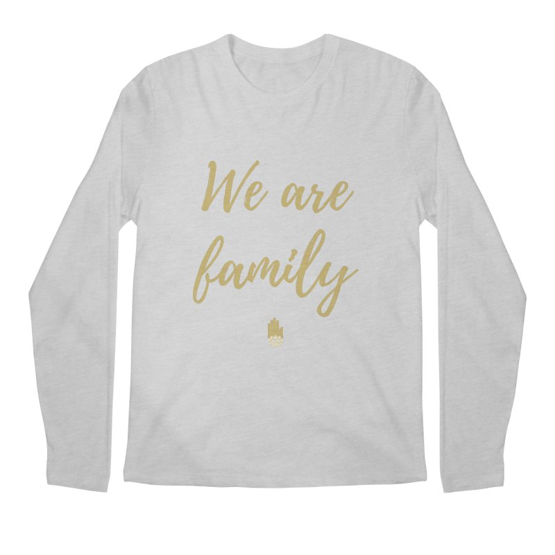 We Are Family | Gold Design Men's Regular Longsleeve T-Shirt by ahimsafamily's shop