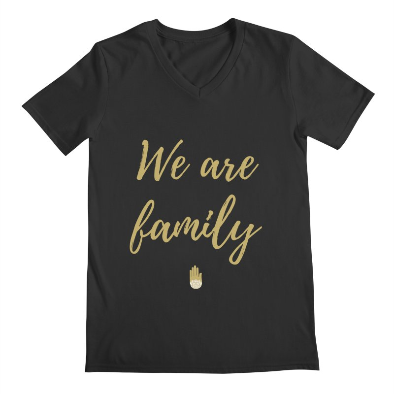 We Are Family | Gold Design Men's Regular V-Neck by ahimsafamily's shop