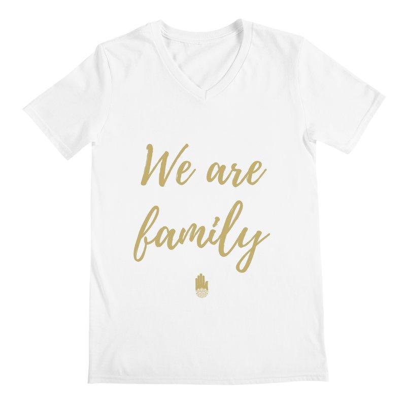 We Are Family | Gold Design Men's V-Neck by ahimsafamily's shop