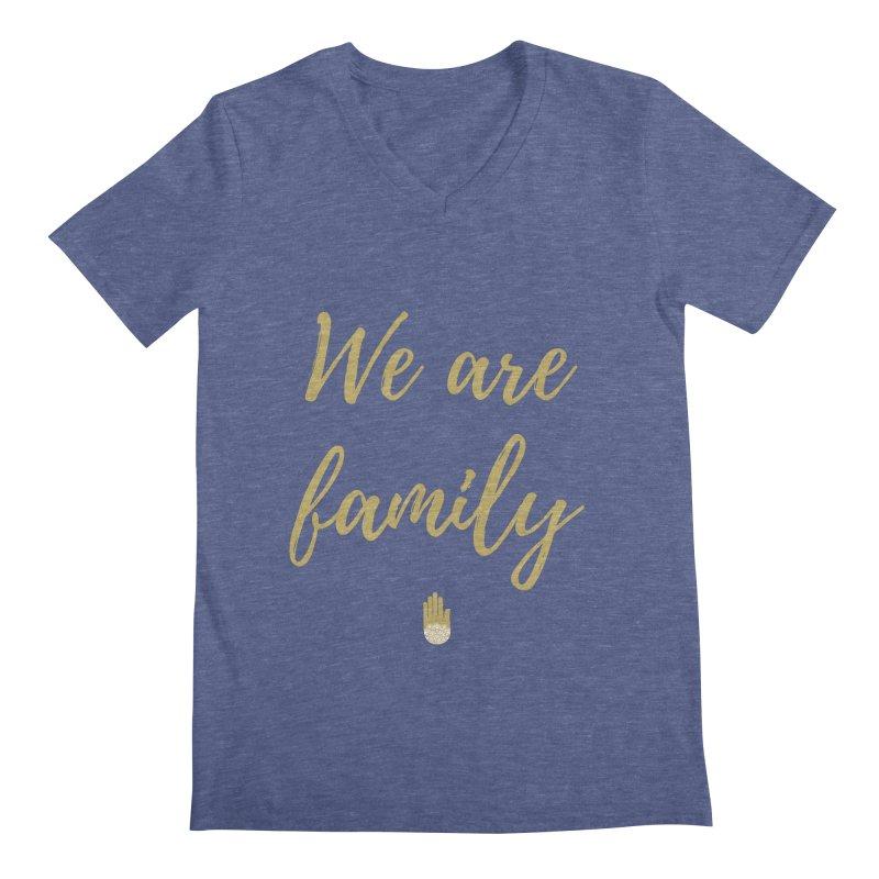 We Are Family | Gold Design Men's Regular V-Neck by ahimsafamily's shop