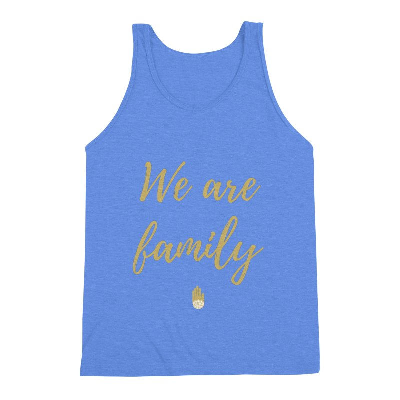 We Are Family | Gold Design Men's Triblend Tank by ahimsafamily's shop