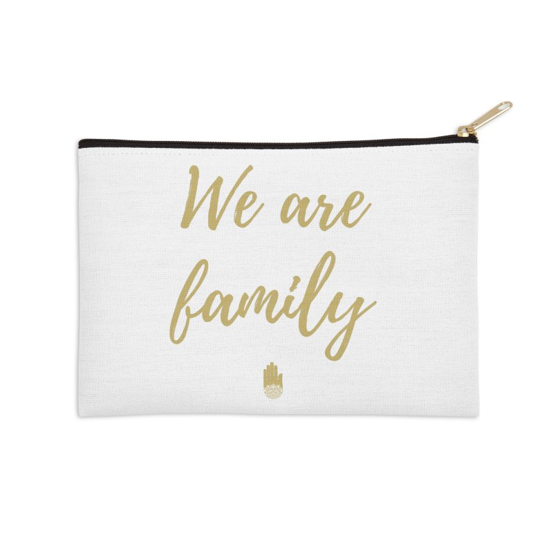 We Are Family | Gold Design Accessories Zip Pouch by ahimsafamily's shop
