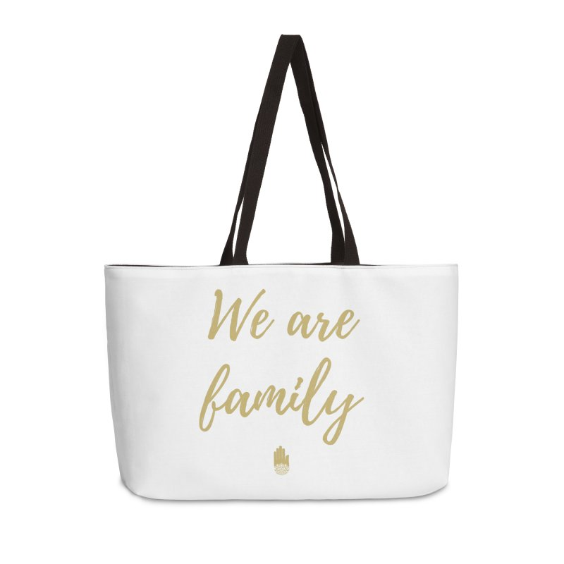We Are Family | Gold Design Accessories Weekender Bag Bag by ahimsafamily's shop
