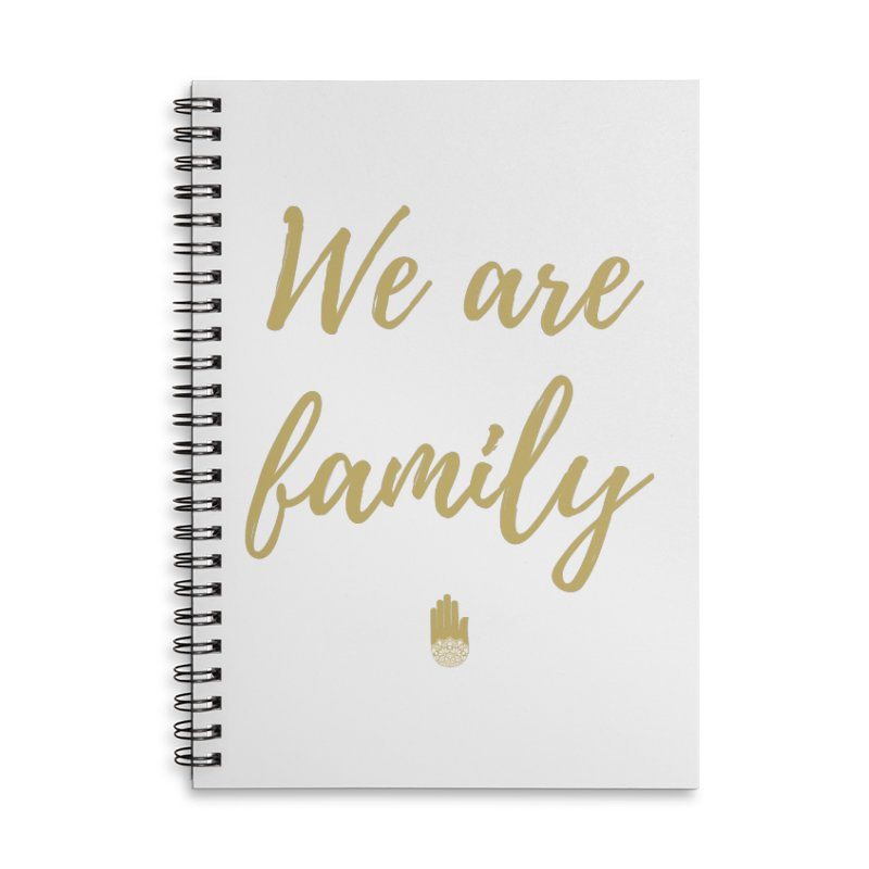 We Are Family | Gold Design Accessories Lined Spiral Notebook by ahimsafamily's shop