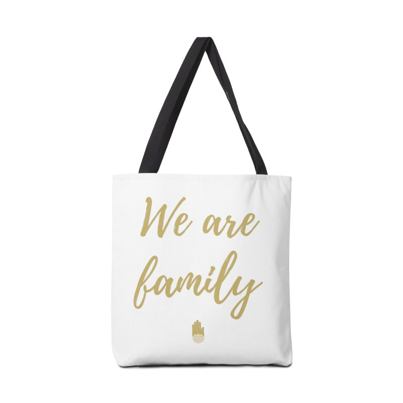 We Are Family | Gold Design Accessories Bag by ahimsafamily's shop