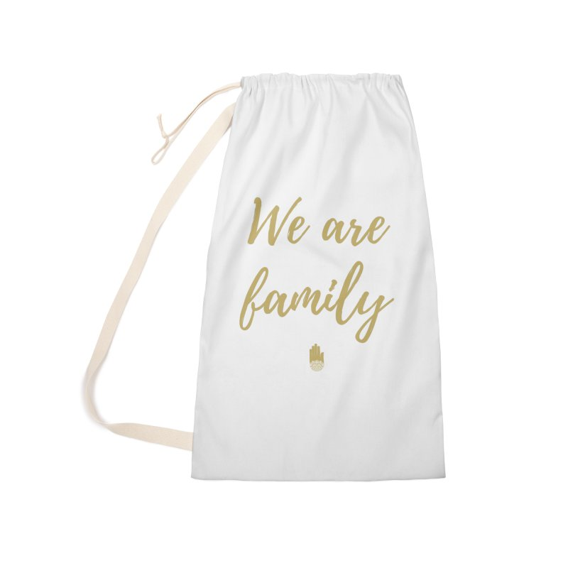We Are Family | Gold Design Accessories Laundry Bag Bag by ahimsafamily's shop