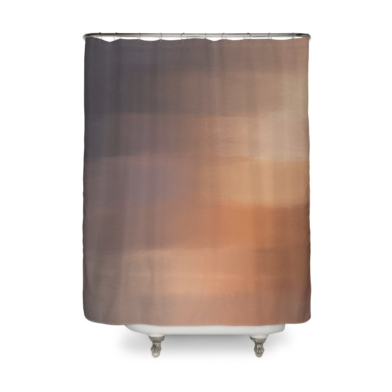 Distant Warmth Home Shower Curtain by ahmadwehbe.com Merch