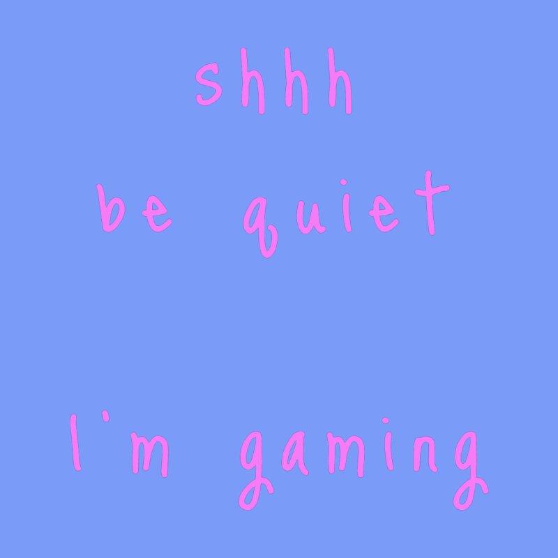 shhh be quiet I'm gaming v1 - PINK font Accessories Beach Towel by ahmadwehbe.com Merch