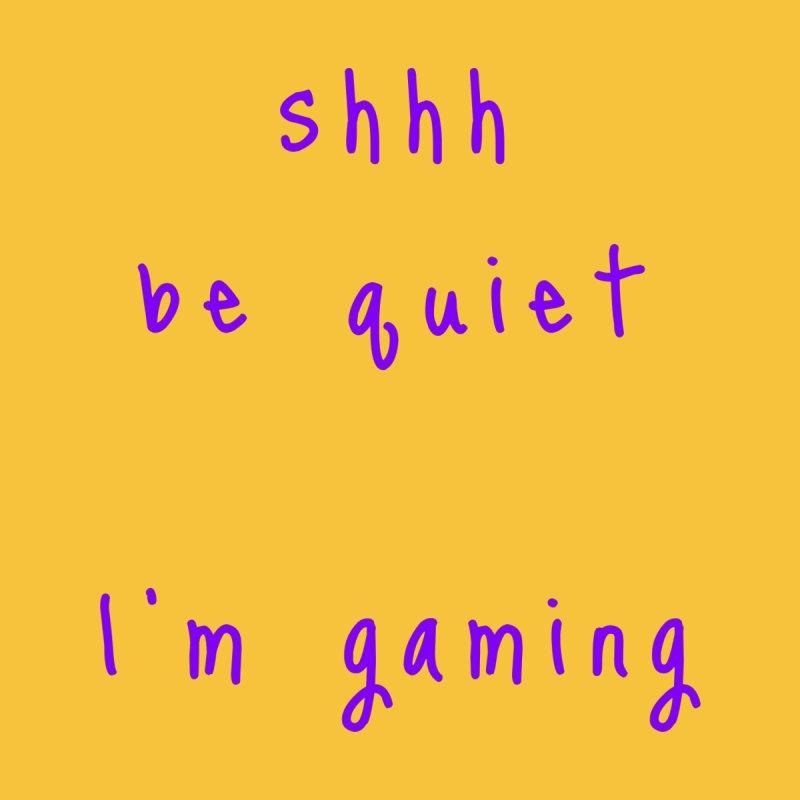 shhh be quiet I'm gaming v1 - PURPLE font Accessories Beach Towel by ahmadwehbe.com Merch
