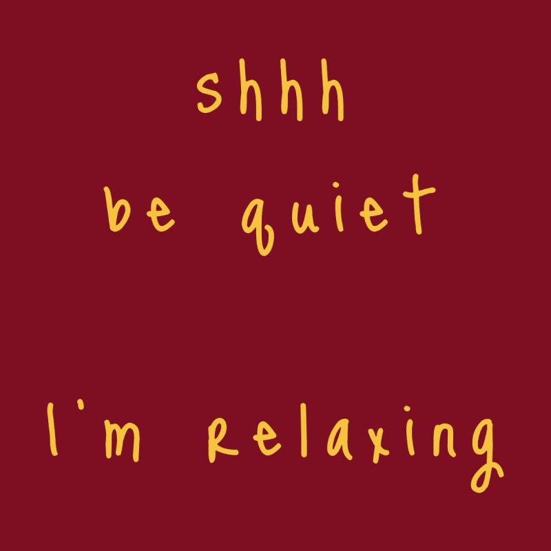 shhh be quiet I'm relaxing v1 - GOLD font Accessories Beach Towel by ahmadwehbe.com Merch