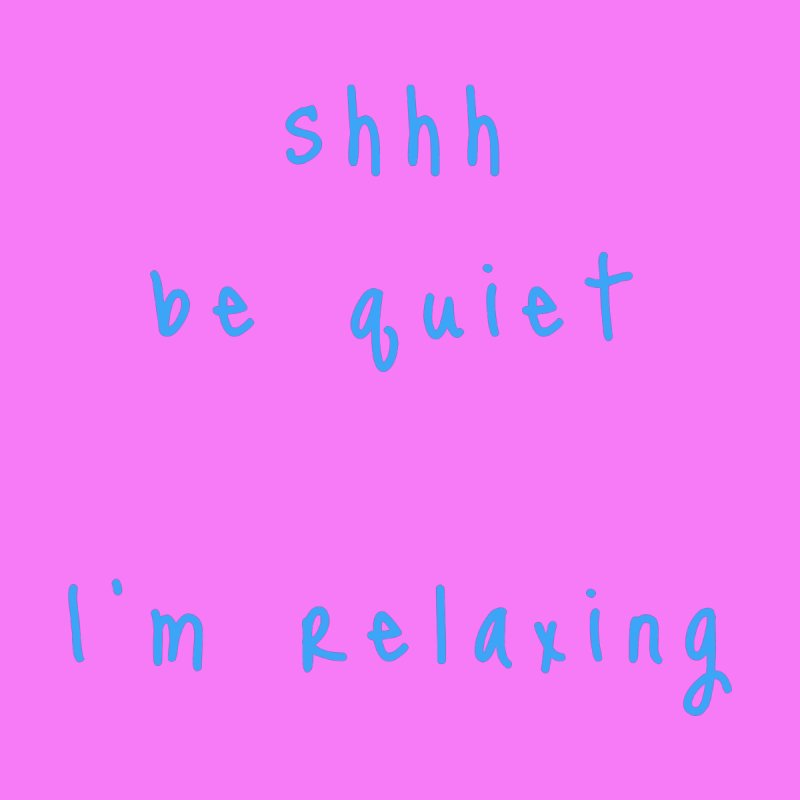 shhh be quiet I'm relaxing v1 - LIGHT BLUE font Accessories Beach Towel by ahmadwehbe.com Merch