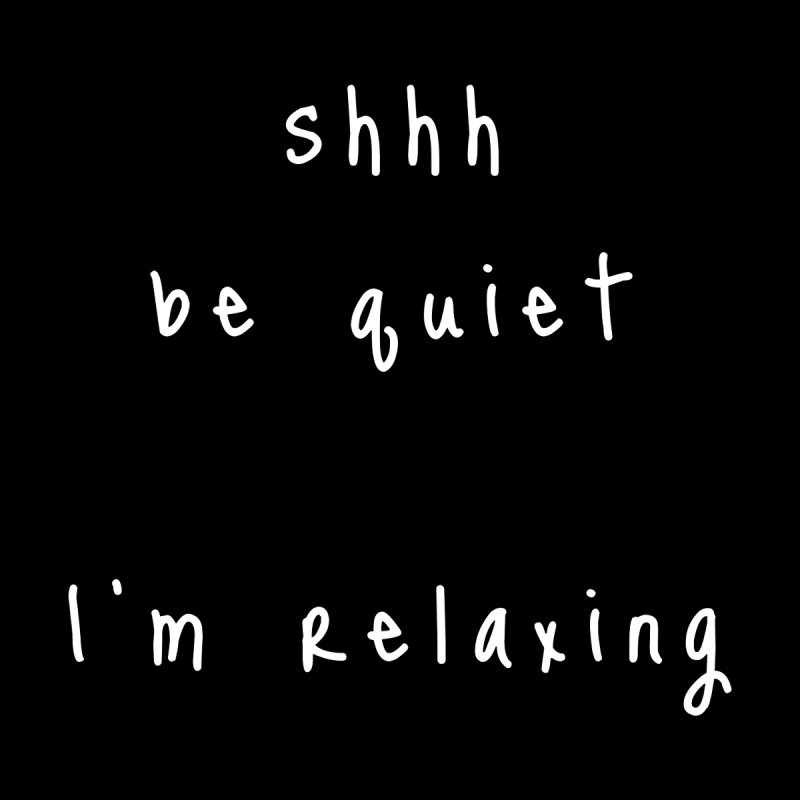 shhh be quiet I'm relaxing v1 - WHITE font Accessories Beach Towel by ahmadwehbe.com Merch