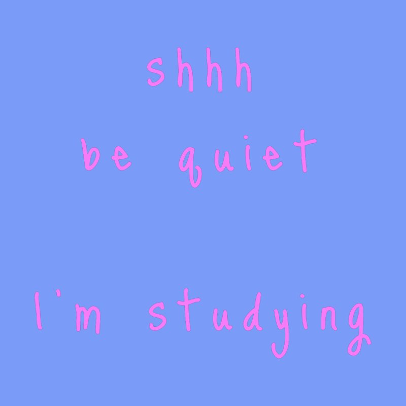 shhh be quiet I'm studying v1 - PINK font Accessories Beach Towel by ahmadwehbe.com Merch