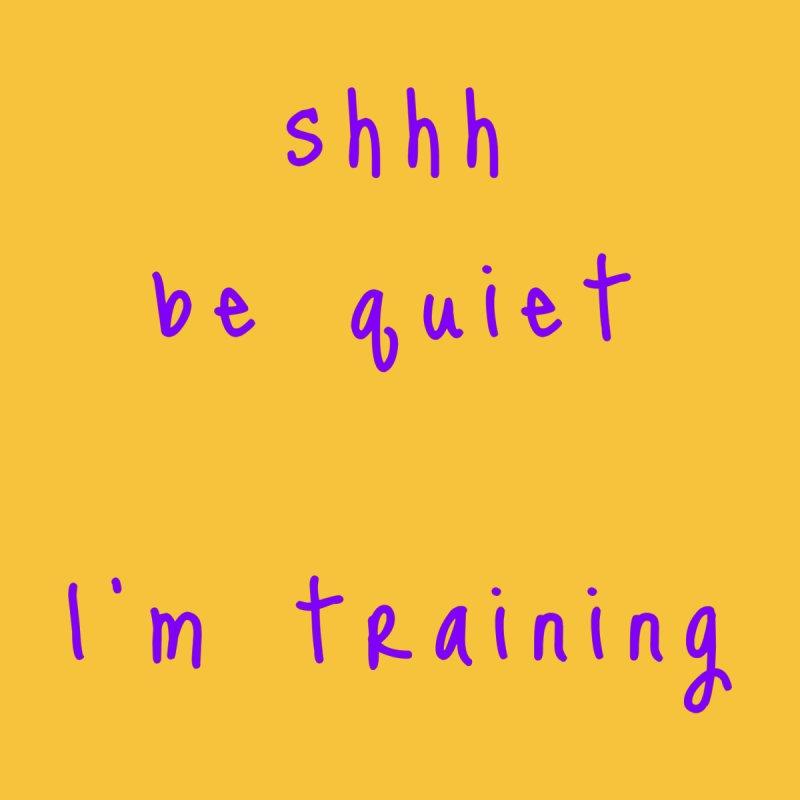 shhh be quiet I'm training v1 - PURPLE font Accessories Beach Towel by ahmadwehbe.com Merch