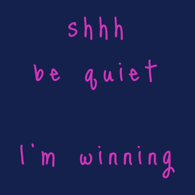 shhh be quiet I'm winning v1 - HOT PINK font Accessories Beach Towel by ahmadwehbe.com Merch