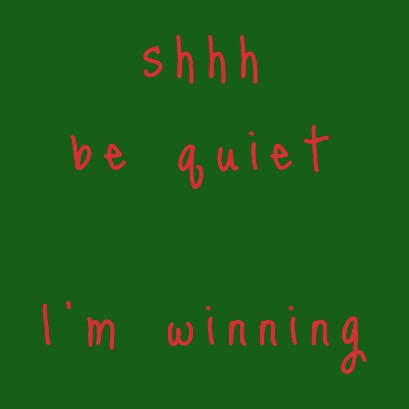 shhh be quiet I'm winning v1 - RED font Accessories Beach Towel by ahmadwehbe.com Merch