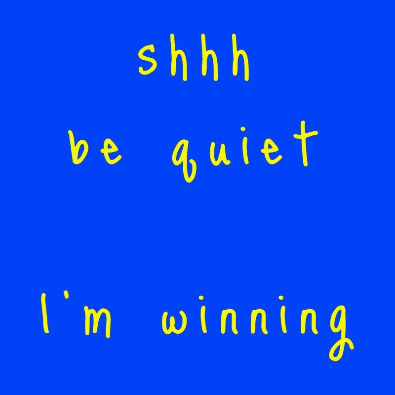 shhh be quiet I'm winning v1 - YELLOW font Accessories Beach Towel by ahmadwehbe.com Merch