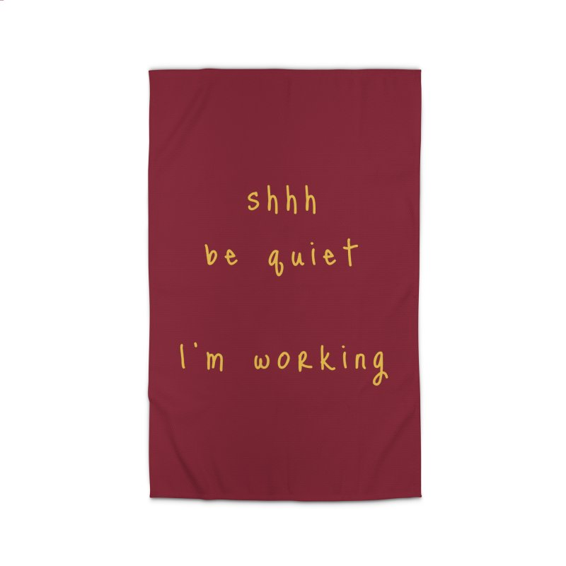 shhh be quiet I'm working v1 - GOLD font Home Rug by ahmadwehbe.com Merch