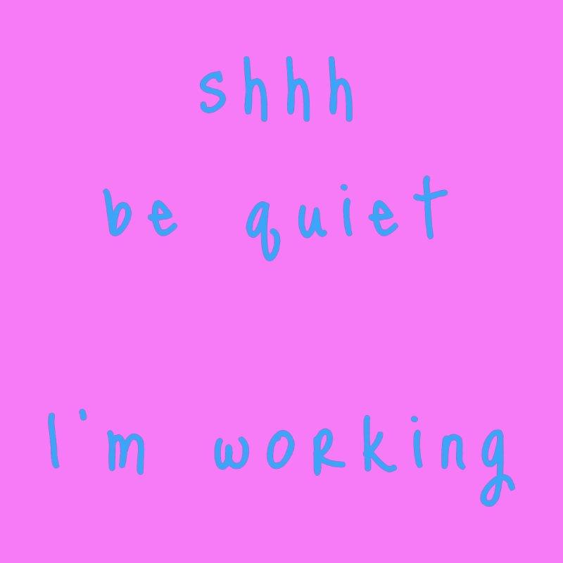 shhh be quiet I'm working v1 - LIGHT BLUE font Accessories Beach Towel by ahmadwehbe.com Merch
