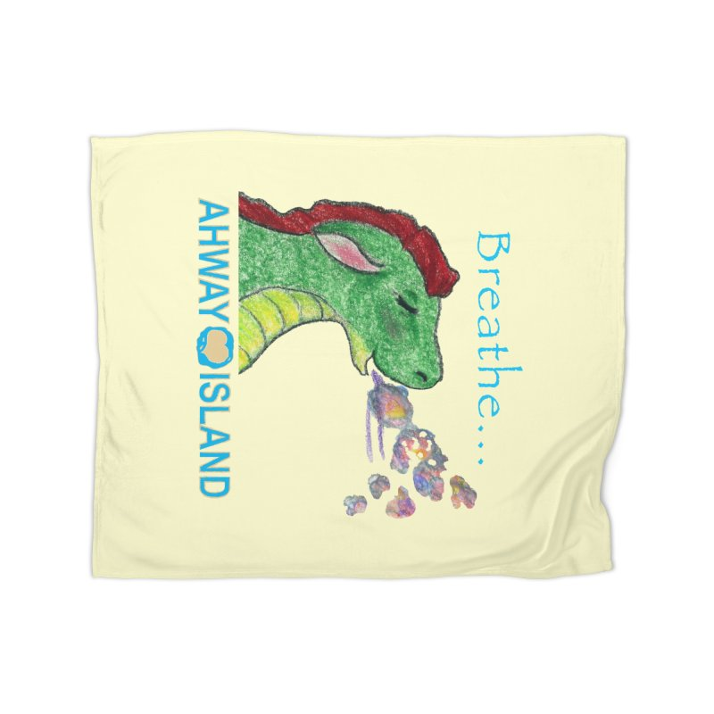 Dragon's Breath Merchandise Home Fleece Blanket Blanket by ahwayisland's Artist Shop