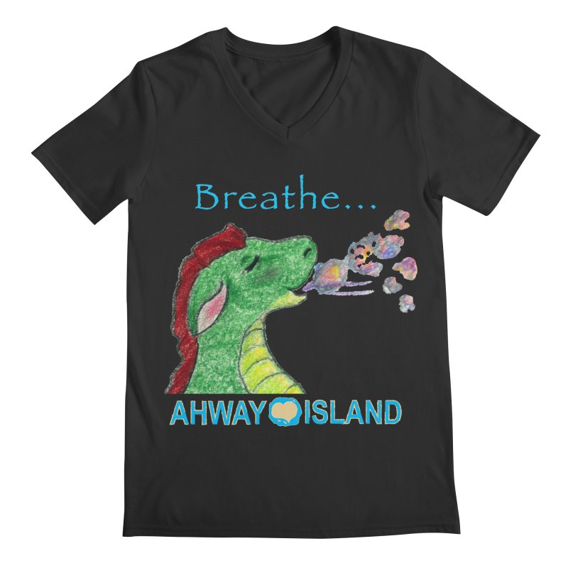 Dragon's Breath Merchandise Men's Regular V-Neck by ahwayisland's Artist Shop