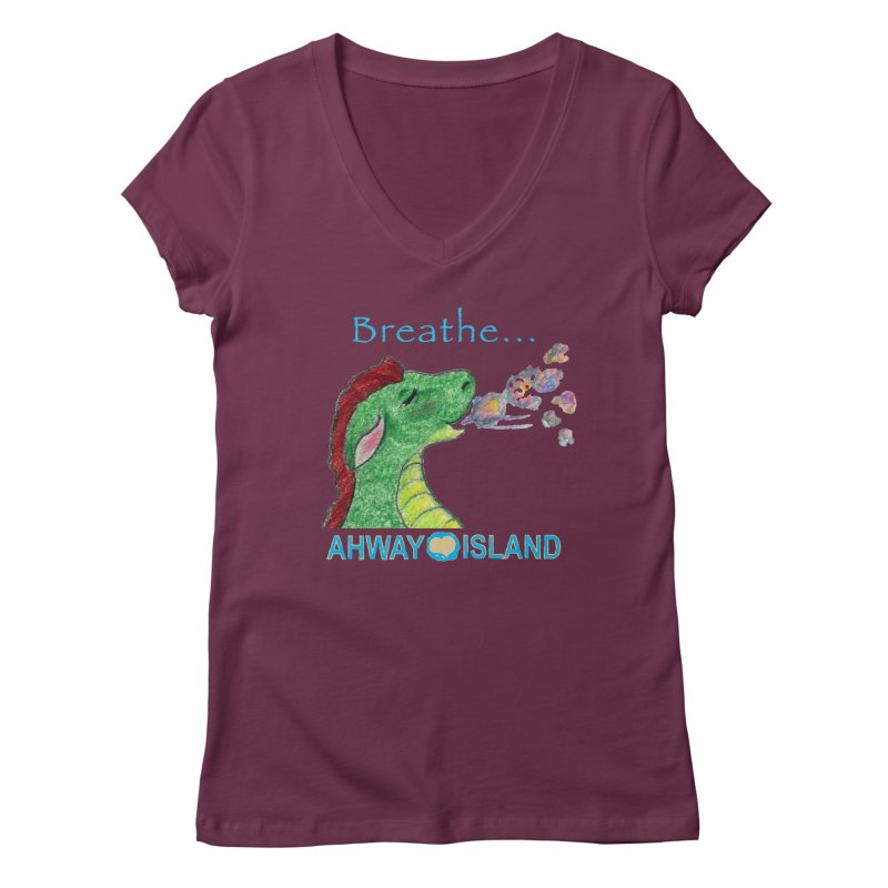 Dragon's Breath Merchandise Women's Regular V-Neck by ahwayisland's Artist Shop