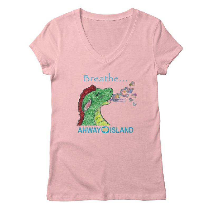 Dragon's Breath Merchandise Women's Regular V-Neck by ahwayisland's Artist Shop