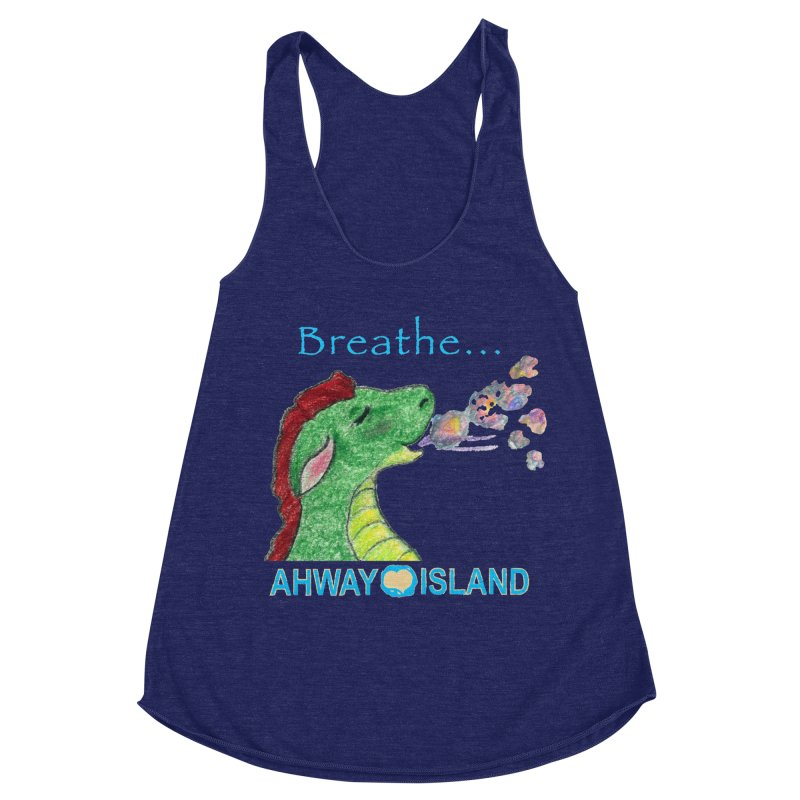 Dragon's Breath Merchandise Women's Racerback Triblend Tank by ahwayisland's Artist Shop