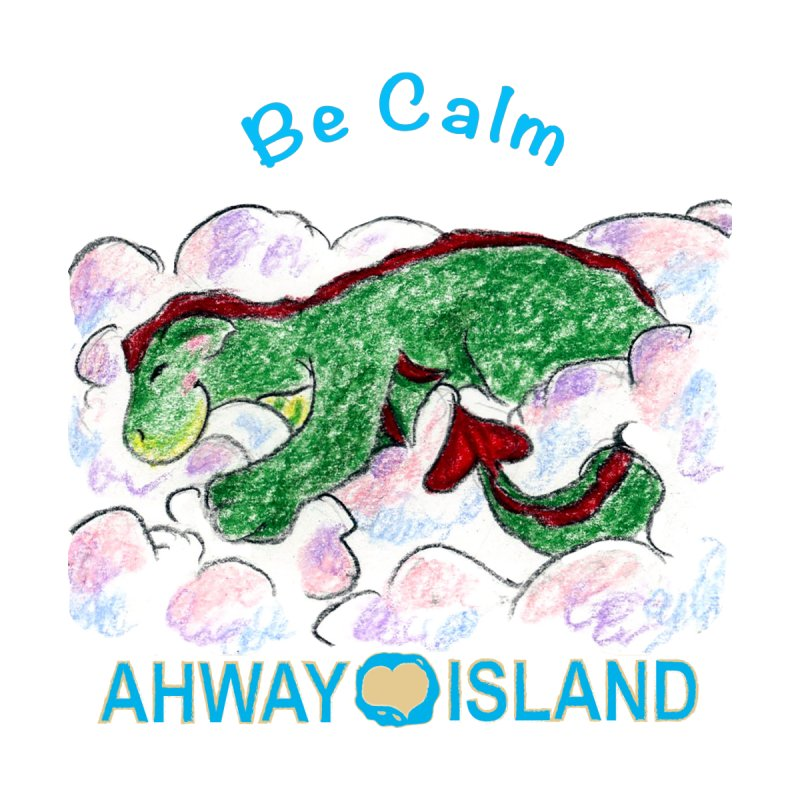 Be Calm Dragon Accessories Sticker by ahwayisland's Artist Shop