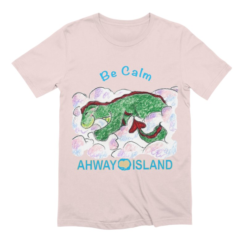 Be Calm Dragon Men's T-Shirt by ahwayisland's Artist Shop