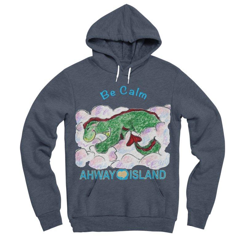 Be Calm Dragon Men's Sponge Fleece Pullover Hoody by ahwayisland's Artist Shop
