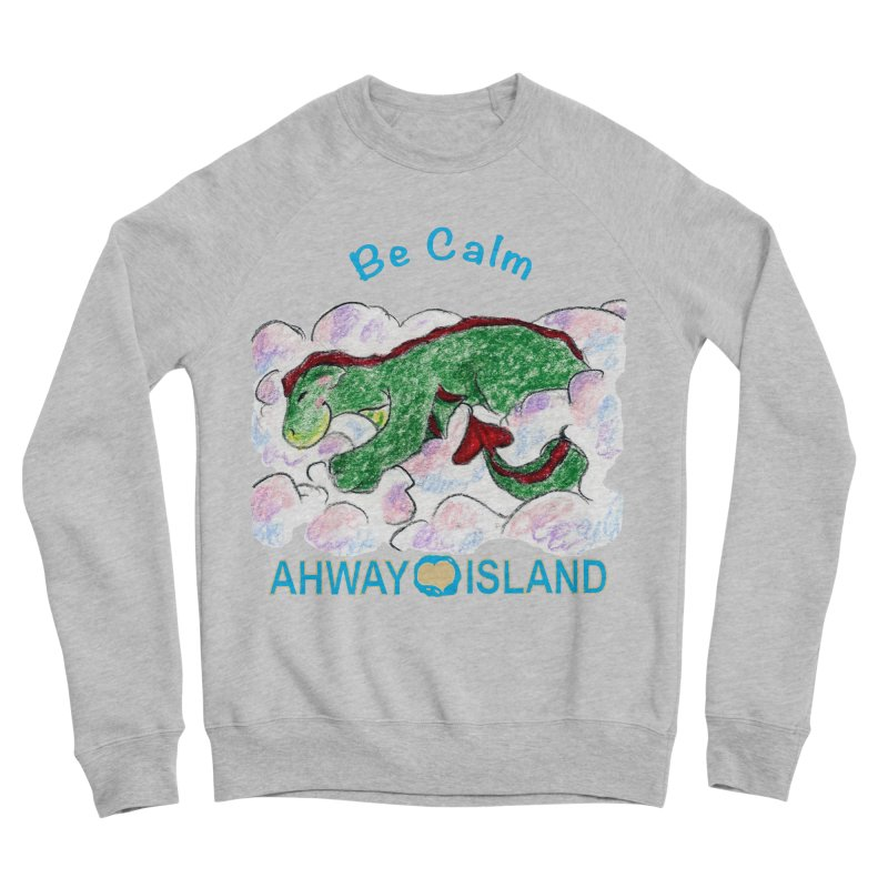 Be Calm Dragon Men's Sponge Fleece Sweatshirt by ahwayisland's Artist Shop