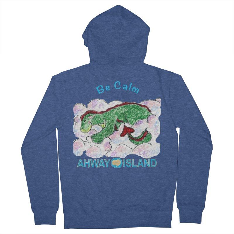 Be Calm Dragon Men's Zip-Up Hoody by ahwayisland's Artist Shop