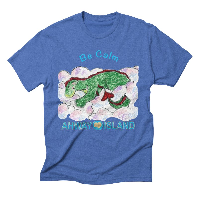 Be Calm Dragon Men's Triblend T-Shirt by ahwayisland's Artist Shop