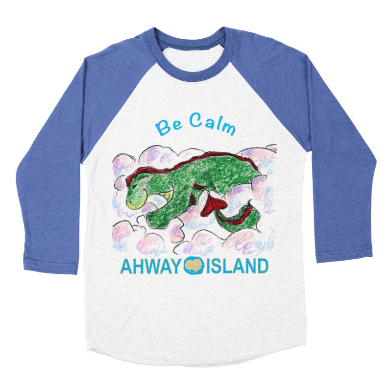 Be Calm Dragon Men's Baseball Triblend Longsleeve T-Shirt by ahwayisland's Artist Shop