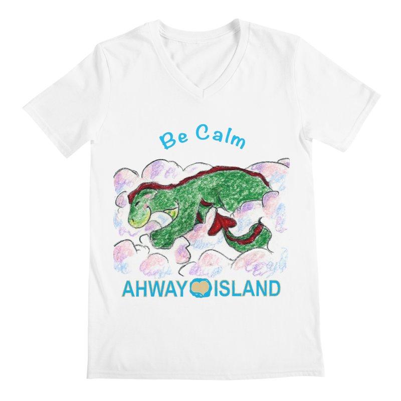 Be Calm Dragon Men's V-Neck by ahwayisland's Artist Shop