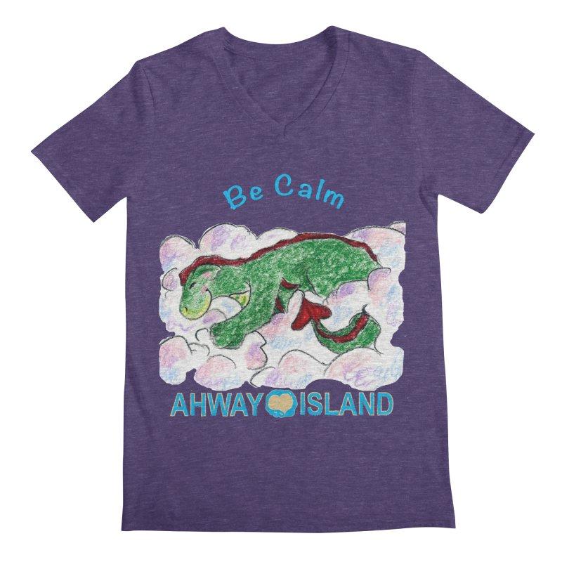 Be Calm Dragon Men's Regular V-Neck by ahwayisland's Artist Shop