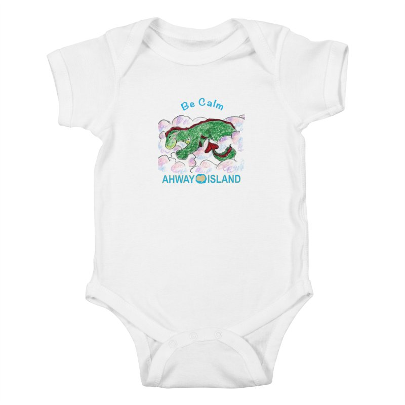 Be Calm Dragon Kids Baby Bodysuit by ahwayisland's Artist Shop