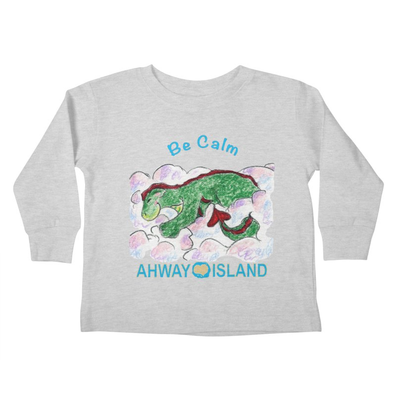Be Calm Dragon Kids Toddler Longsleeve T-Shirt by ahwayisland's Artist Shop