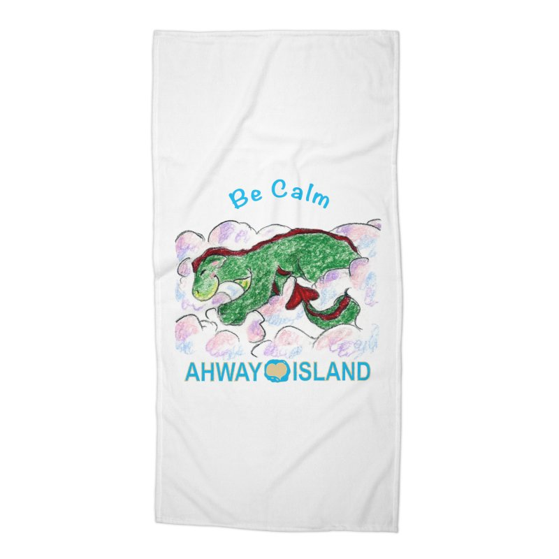 Be Calm Dragon Accessories Beach Towel by ahwayisland's Artist Shop