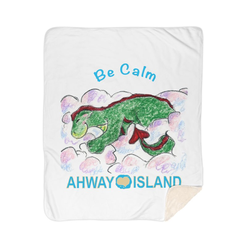 Be Calm Dragon Home Sherpa Blanket Blanket by ahwayisland's Artist Shop