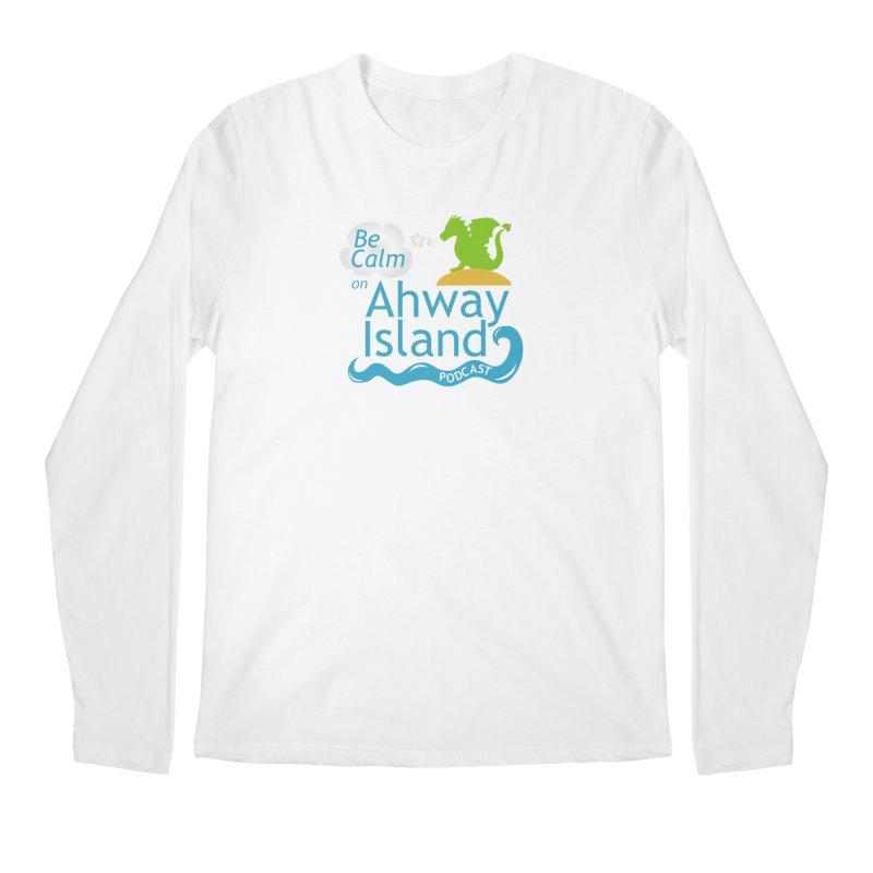 Be Calm on Ahway Island Merchandise Men's Regular Longsleeve T-Shirt by ahwayisland's Artist Shop