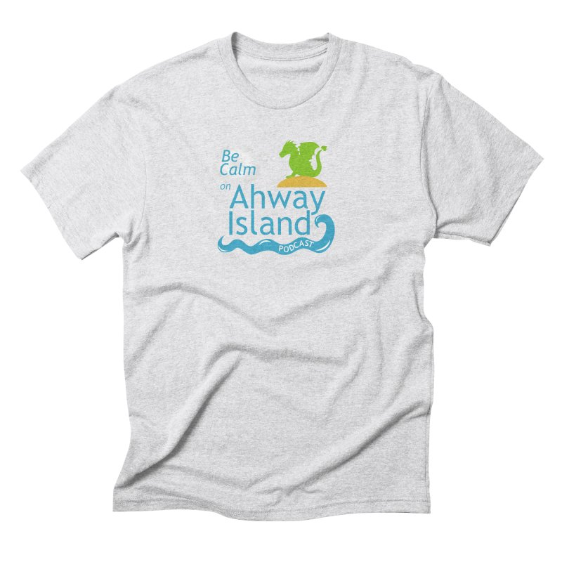 Be Calm on Ahway Island Merchandise Men's Triblend T-Shirt by ahwayisland's Artist Shop
