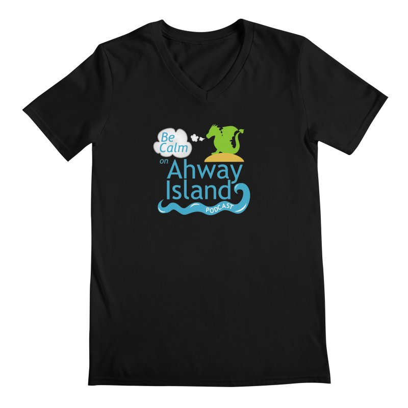 Be Calm on Ahway Island Merchandise Men's Regular V-Neck by ahwayisland's Artist Shop