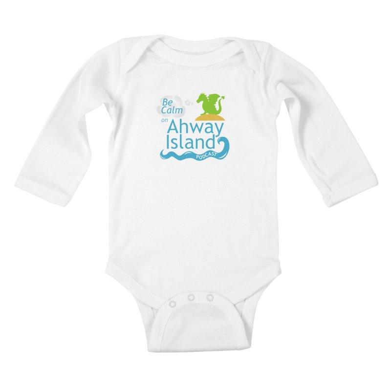Be Calm on Ahway Island Merchandise Kids Baby Longsleeve Bodysuit by ahwayisland's Artist Shop