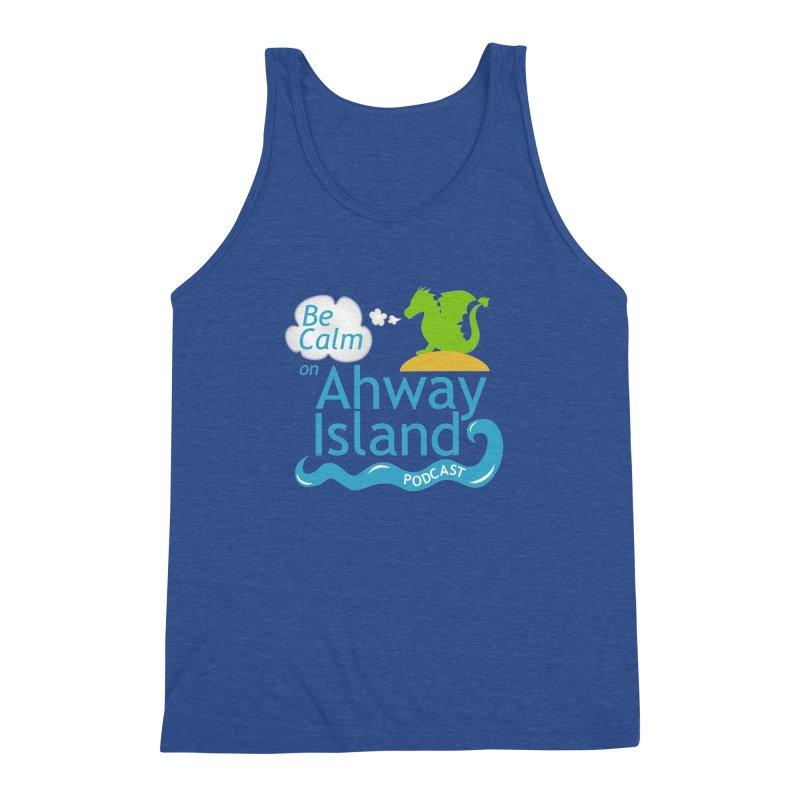 Be Calm on Ahway Island Merchandise Men's Tank by ahwayisland's Artist Shop