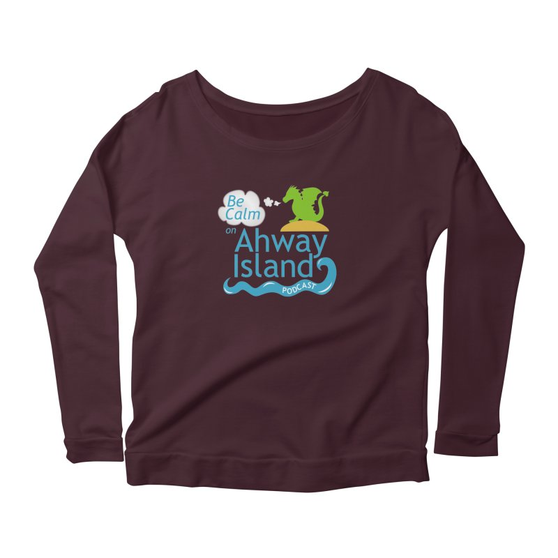 Ahway Island Merchandise Women's Scoop Neck Longsleeve T-Shirt by ahwayisland's Artist Shop