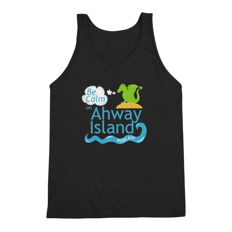 Be Calm on Ahway Island Merchandise Men's Triblend Tank by ahwayisland's Artist Shop