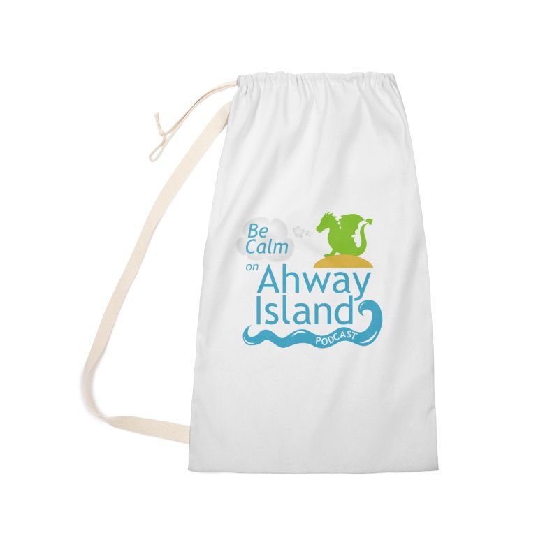 Be Calm on Ahway Island Merchandise Accessories Laundry Bag Bag by ahwayisland's Artist Shop